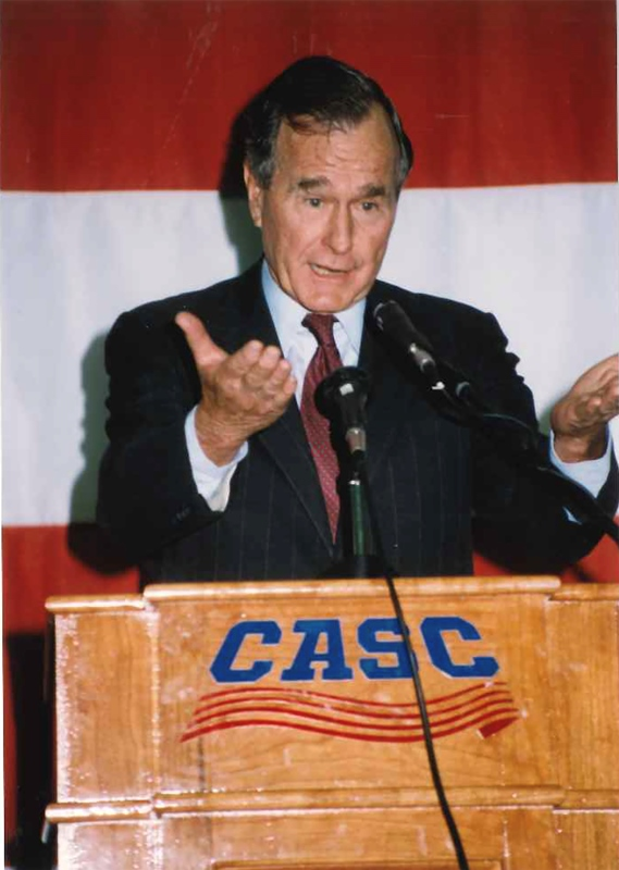 President George Bush Addresses CASC 002