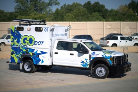 The Oklahoma Department of Transportation unveiled its new motorist assist pilot program, GO-DOT, at the Monday, Aug. 6 meeting of the Oklahoma Transportation Commission. Two new specialized trucks will initially be used to aid stranded motorists in one of the state's busiest work zones, I-235 in Oklahoma City.