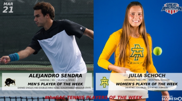 GAC TENNIS WEEKLY AWARDS (MARCH 21)
