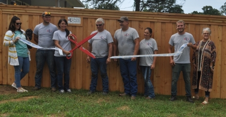 Pictures are Heather Baldwin, Shiloh Freeman, LaDonna Burdett, Loren Burdett, Brittany Freeman, Scott Sparks, Chase McDonald and Karen Wages, with the Poteau Chamber.