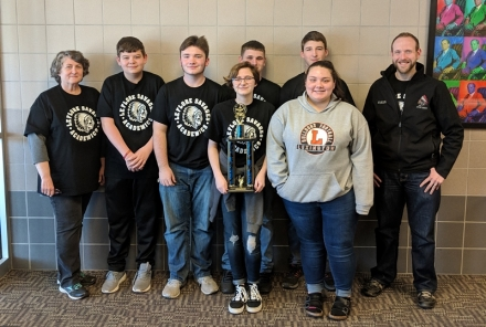 Pictured from left to right for LeFlore: Back row: Connor Morris; Nicholas Ford; Karli Dedmon; Michael McMahon; Reagan Kardokus. Front row: Chesney Barfield; and Arizona Gullick.