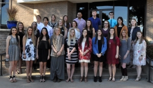 2017 PTK Fall Induction – Eastern students granted membership into Phi Theta Kappa posed together following their induction ceremony. Those inducted include (front row, left to right): Bryanne Coody, Skyler Jones, Marra Juarez, Kelsy Cunningham, Lauren Coggin, Adisyn Webster, Augusta Reagan, Elisabeth Wilson, Brooke Sharp, Madeline Jarrett, (middle row) Madison Hughes, Shalesa Pink, Martin Juventus, Rachil Needham, Kaylen Forehand, Michelle Coker, Kristin Eller, Reagan Boggs, Hailey Braswell, (back row) Leila Aaron, Kristin Houston, Ariana Riley, Jonathan Giddens, Jake Patterson and Triston Boling.
