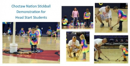 Choctaw Nation Head Start Programs Stickball Demonstration Held at CASC
