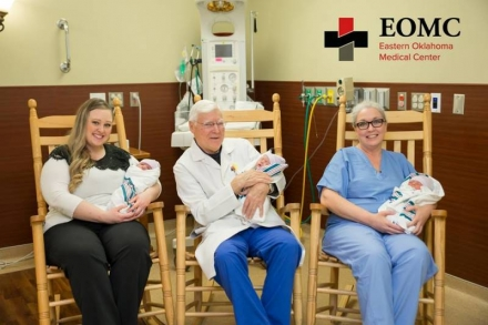 "EOMC ""Our OB Docs ROCK"" - Pictured From left to right; Kassandra Payne, DO, Bruce Darrow, MD & Beth Hites, DO."