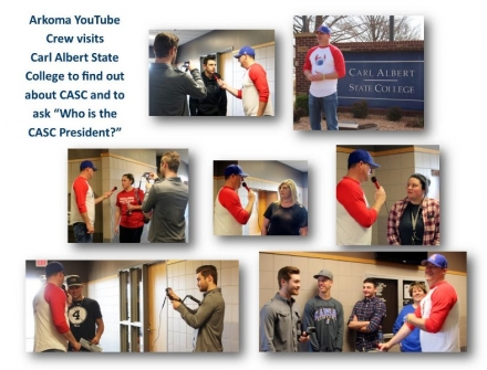 Arkoma Public Schools YouTube Crew Visit at CASC