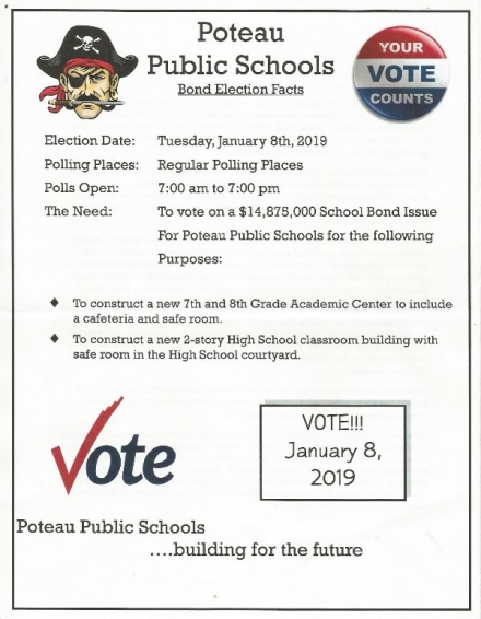Poteau Voters to take to polls for School Bond Issue