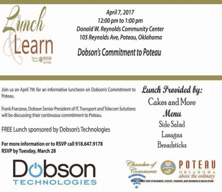 Lunch & Learn coming April 7th
