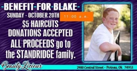 New time for Benefit for Blake
