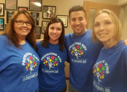Photos of the Day: LeFlore County Youth Services support Child Abuse Awareness Month!