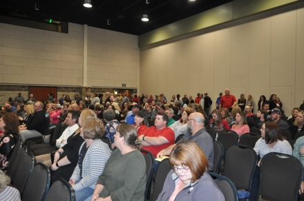 The Southeast Oklahoma Teacher Walkout Forum had good turnout