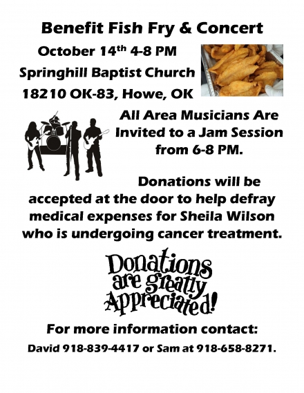 Benefit Fish Fry and Concert – Oct 14th