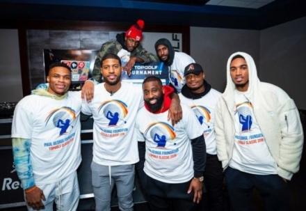 On February 6th, as a part of the inaugural Paul George Foundation Topgolf Classic, Paul George hosted a fundraiser to raise money for a new, kid-friendly fishing dock at South Lakes Park in OKC. Thank you Paul George for donating Topgolf proceeds to our Fishing in the Schools program!