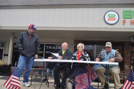 Judges gettin ready for the Poteau Veterans Day Parade
