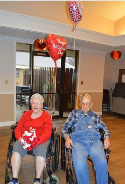 Oaks Nursing Home Crowns Valentine's Day King and Queen