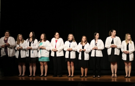 2018 CASC Nursing Graduates recognized at annual Pinning Ceremony.