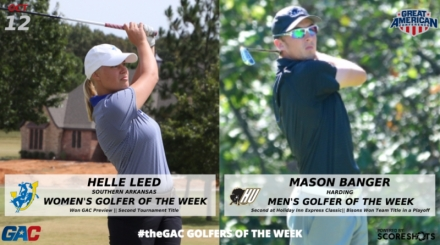 GREAT AMERICAN CONFERENCE GOLFERS OF THE WEEK (OCTOBER 12)