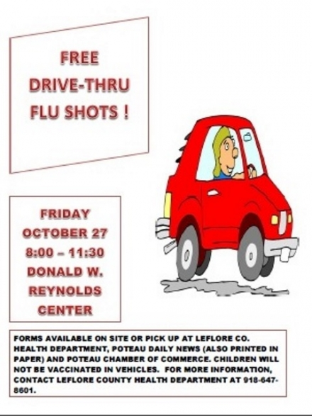 DRIVE THROUGH FLU SHOT CLINIC SCHEDULED