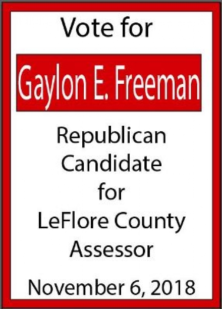 Vote Gaylon Freeman LeFlore County Assessor