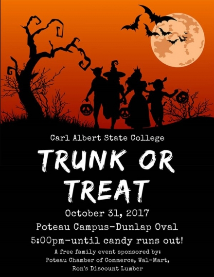 Trunk or Treat Planned at CASC Campus for October 31st