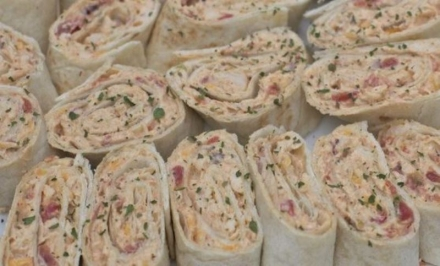 CHICKEN SALAD WRAPS-PINWHEELS!