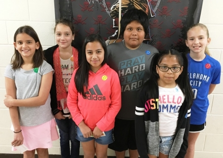 PUES Students of the Week for April 1 through 5, 2019