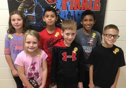PUES Students of the week for October 2 - 6